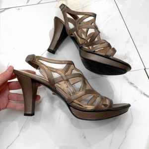 Naturalizer N5 Comfort Tan Glossy Strappy …